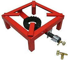 Fornellone Cm 40 X 40 In Metallo Nero A Gas