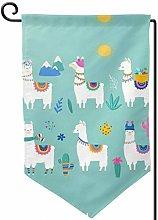 Forver me - Bandiera da giardino con lama alpaca