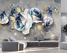 foto murale carta da parati 3d europea fiore blu