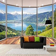 Foto Personalizzata 3D Balcone Foresta Lago Spazio