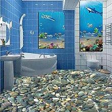 Foto Wallpaper 3D Realistico Subacqueo Cobblestone