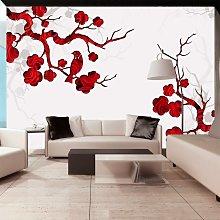 Fotomurale - Cespuglio Rosso 350x245cm Carta Da
