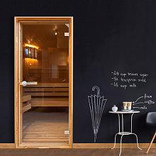 Fotomurale per porta - Sauna - 70x210