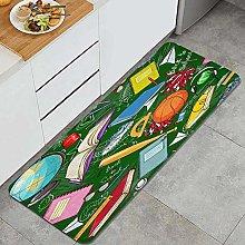 FOURFOOL Tappeto da Cucina,backschool,Microfibra