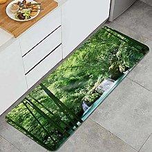 FOURFOOL Tappeto da Cucina,Bamboo Natural Decor