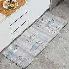 FOURFOOL Tappeto da Cucina,Beluga e delfino