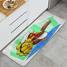 FOURFOOL Tappeto da Cucina,Chef Turchia Cooking