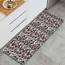 FOURFOOL Tappeto da Cucina,Design vintage a