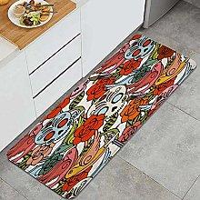 FOURFOOL Tappeto da Cucina,disegno di disegni del