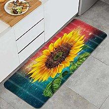 FOURFOOL Tappeto da Cucina,Girasole Floral Design