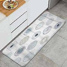 FOURFOOL Tappeto da Cucina,Modello blu acquerello