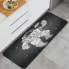 FOURFOOL Tappeto da Cucina,Nebulosa Cartoon