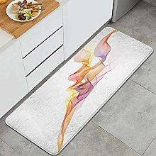 FOURFOOL Tappeto da Cucina,Onde di vapore di