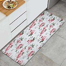 FOURFOOL Tappeto da Cucina,Rose Pink Blossom