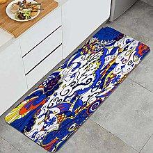 FOURFOOL Tappeto da Cucina,trafori mehndi design