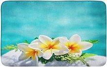 Frangipani - Tappeto da cucina con bordo a fiori