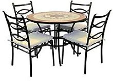 Fraschetti - Set liberty tavolo tondo 100xh72 con