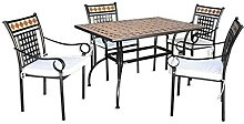 Fraschetti - Set stilnovo tavolo 120x80xh72 con