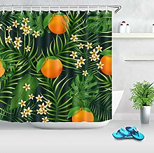 Frutta arancione fiore foglia tropicale HD stampa,