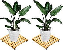 FUFRE - Carrello per piante da giardino in bambù,