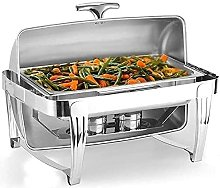 Full-Size 9QT Deluxe Roll Top Chafer in acciaio