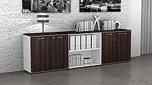 Fumu Mobile Ufficio Basso libreria 4 Ante Legno