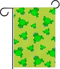 FunHOMEs - Bandiera da giardino con motivo a rana,