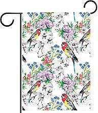 FunHOMEs - Bandiera da giardino con uccelli e