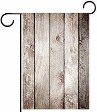 FunHOMEs - Bandiera da giardino in legno, doppia