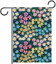 FunHOMEs - Bandiera da giardino in stile vintage,