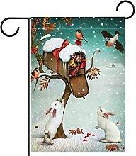 FunHOMEs, bandiera del giardino di Natale conigli,