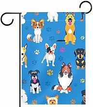 FunHOMEs - Bandiera verticale per cani con cartoni