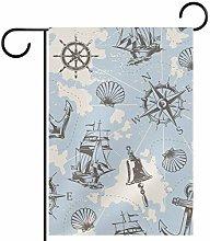 Funhomes, bandiera vintage con motivo nautico da