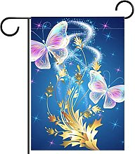 FunHOMEs Fantasy Farfalla Giardino Bandiera di