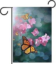 FunHOMEs Monarca farfalla giardino bandiera iuta