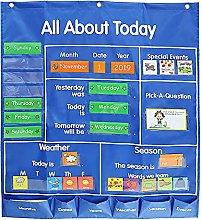 Funien Grafico Tascabile del Calendario,Grafico