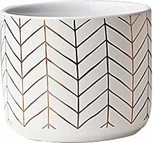 Funight Vaso Da Fiori In Ceramica Rotonda Nordica,
