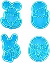 Funmix Stampo per Uova di Pasqua, 2 Pezzi Stampi
