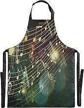 FVFV Musica d'oro Impermeabile Grembiule