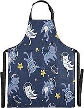 FVFV Simpatico Gattino Blu Astronauta Impermeabile