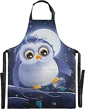 FVFV Uccello Nottambulo Luna Blu Impermeabile