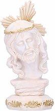Fydun Statua Testa di Gesù Ornamenti in Resina