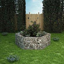 Gabbione Letto Rialzato da Giardino Esagonale