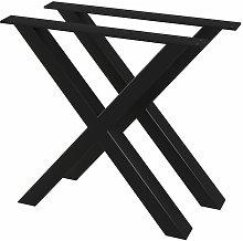 Gambe per Tavolo da Pranzo 2 pz a Forma di X 80x72