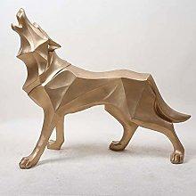GAOYINMEI Geometric Totem Wolf Dog Statue Statua