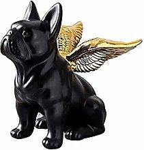 GAOYINMEI Resina Scultura Little Flying Dog Statue