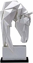 GAOYINMEI Scultura Desktop Statua Geometrica Testa