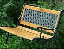 Garden Bench legno Inge e cast motivo grata di