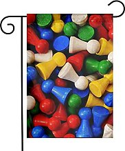 Garden Flag Chess Colorful House Yard Outdoor