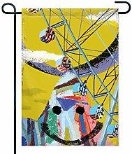 Garden Flag Funny Ferris Wheel Bandiera Decorativa